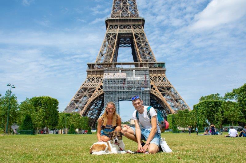 Eiffel tower stolp Pariz Potujoči brlog