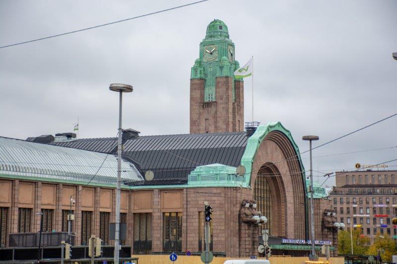 Glavna železniška postaja Helsinki Potujoči brlog