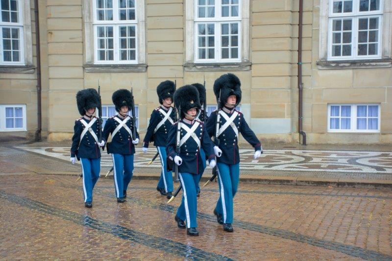 Amalienborg Kopenhagen Danska Potujoči brlog