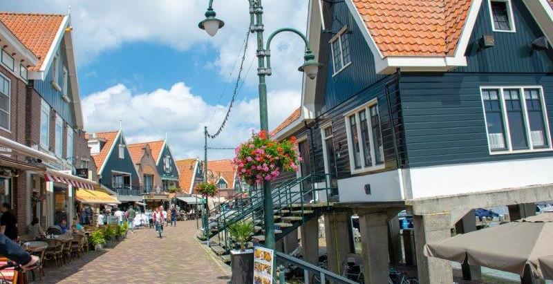 Ribiške vasice in jezero IJsselmeer