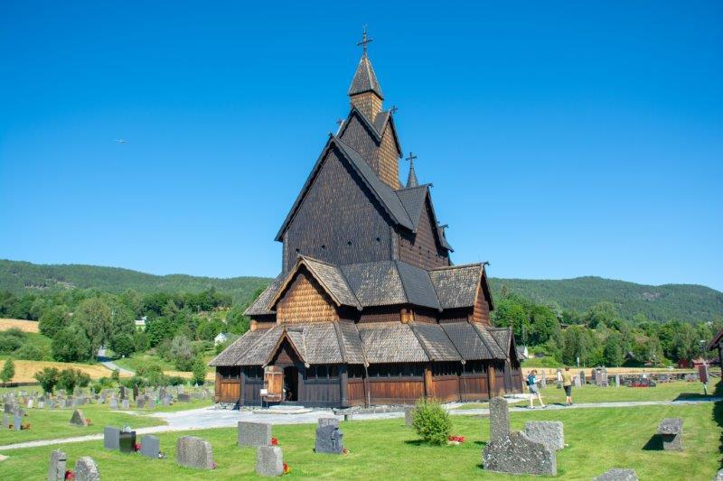 Heddal Stavkirke cerkev Potujoči brlog
