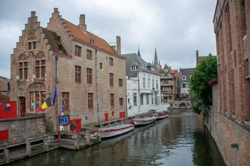 Dijver Brugge Belgija Potujoči brlog