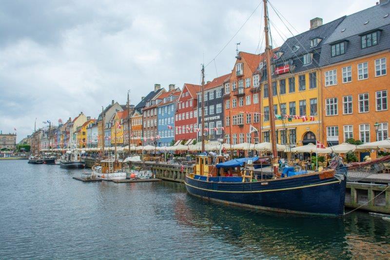 Nyhavn Kopenhagen Danska Potujoči brlog
