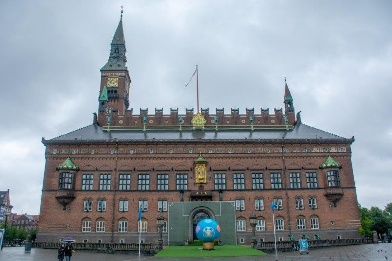 Mestna hiša Kopenhagen Danska Potujoči brlog
