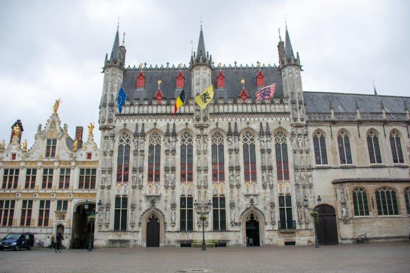 Mestna hiša Brugge Belgija Potujoči brlog
