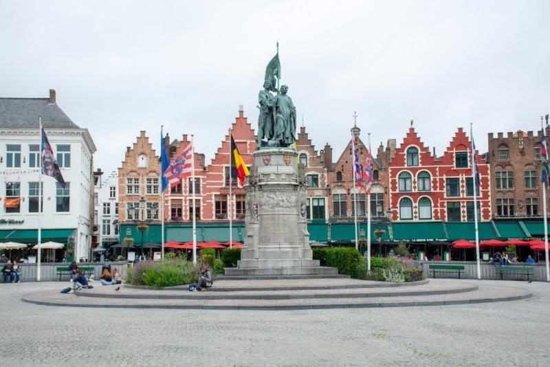 Brugge Markt Belgija Potujoči brlog