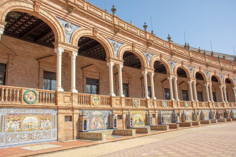 Plaza de Espana Sevilla Potujoči brlog