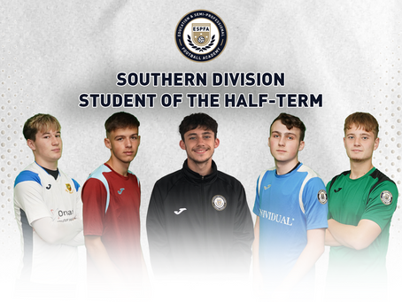 SOUTHERN DIVISION – STUDENT OF THE HALF-TERM