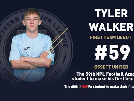 TYLER WALKER MAKES HIS FIRST TEAM DEBUT