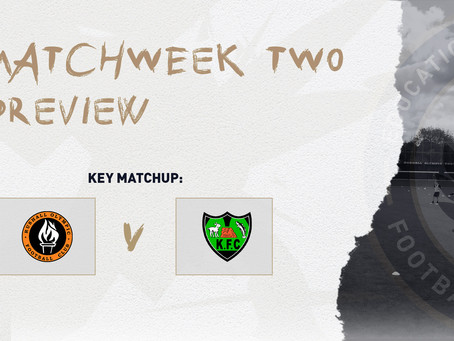 MATCHWEEK TWO – PREVIEW
