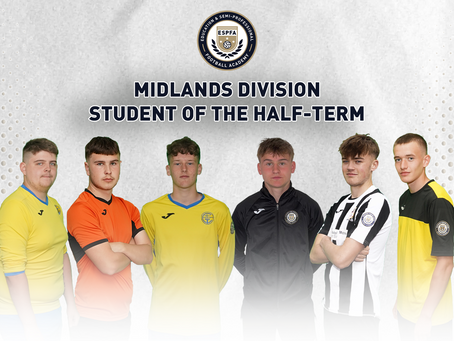 MIDLANDS DIVISION - STUDENT OF THE HALF-TERM