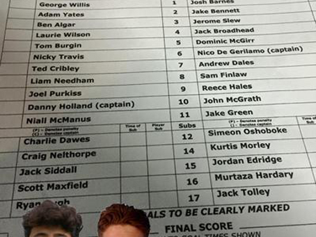 MICKLEOVER STUDENTS IN FIRST TEAM SQUAD