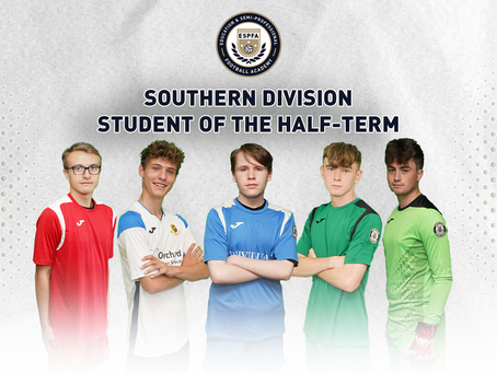 SOUTHERN DIVISION - STUDENT OF THE HALF TERM