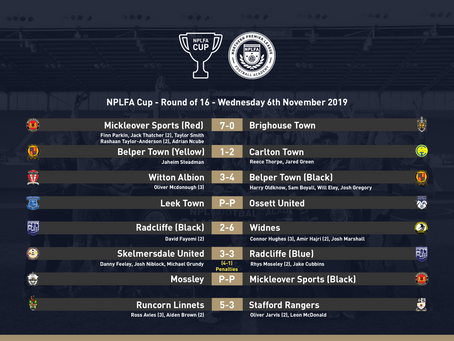 NPLFA CUP ROUND OF 16 - REVIEW