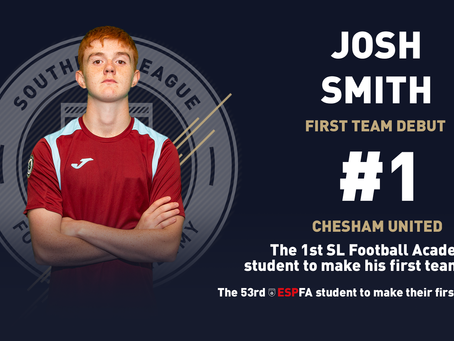 JOSH SMITH BECOMES THE FIRST SLFA STUDENT TO MAKE HIS FIRST TEAM DEBUT