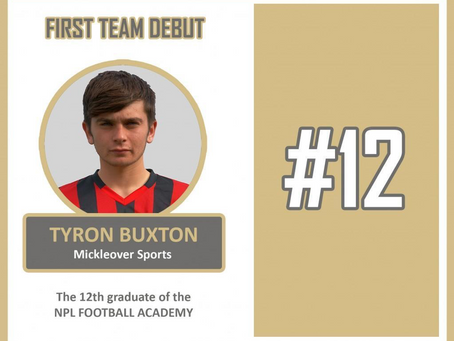 TYRON BUXTON 12TH STUDENT TO MAKE DEBUT