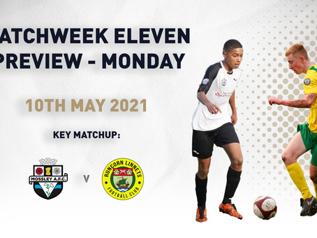 MATCHWEEK ELEVEN - MONDAY PREVIEW