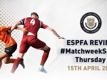 ESPFA MATCHWEEK REVIEW - #MatchweekSeven Thursday fixtures