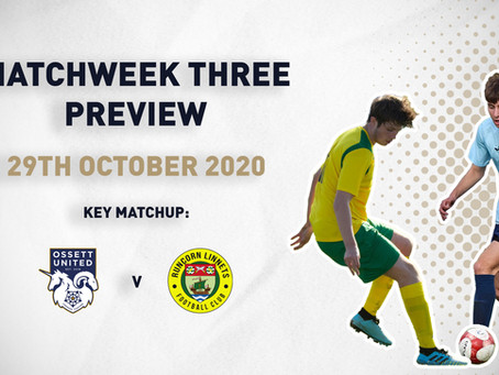 MATCHWEEK THREE - PREVIEW