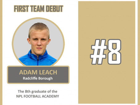 ADAM LEACH MAKES DEBUT