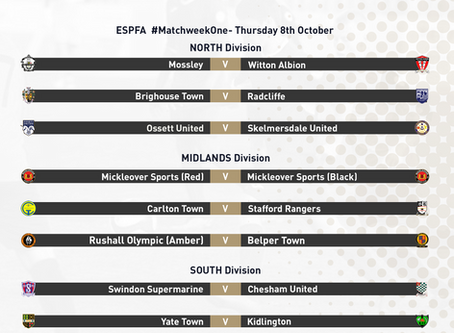ESPFA Fixture Announcement