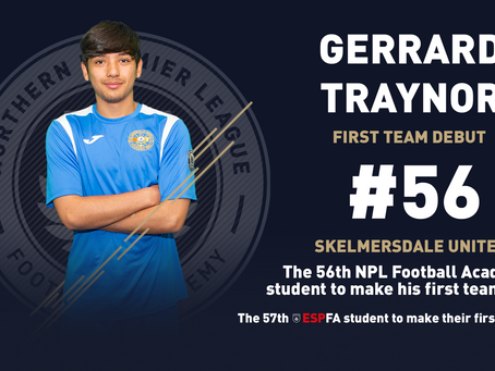 GERRARD TRAYNOR MAKES HIS FIRST TEAM DEBUT