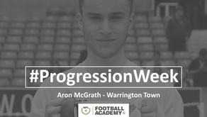 #ProgressionWeek – Aron McGrath