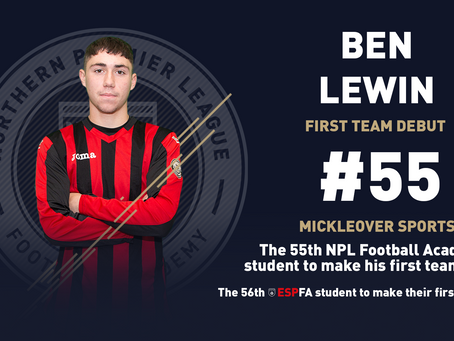 BEN LEWIN MAKES HIS FIRST TEAM DEBUT