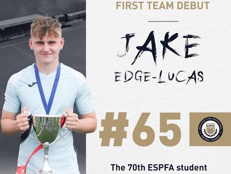 JAKE EDGE-LUCAS - 65TH FIRST TEAM DEBUT