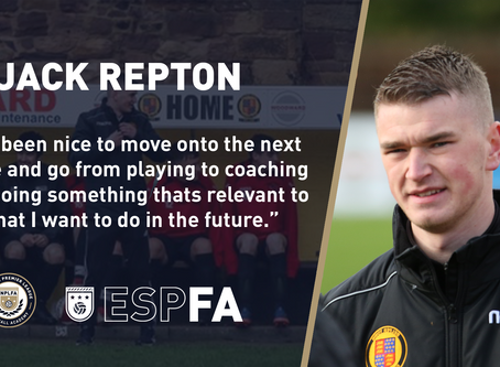 STUDENT PROGRESSION UPDATE – JACK REPTON