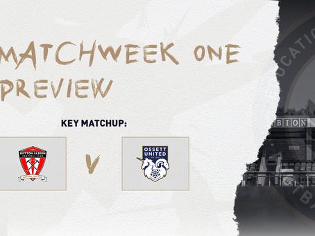 #MatchweekOne Preview