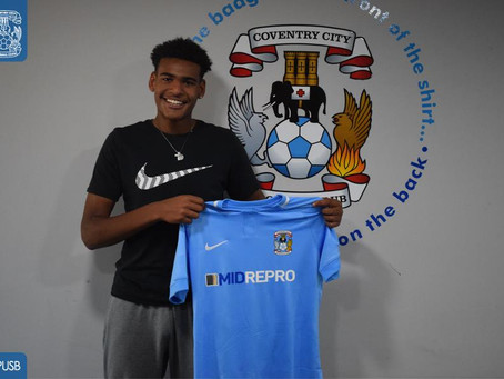 STUDENT SEALS MOVE TO COVENTRY CITY