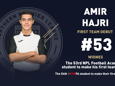 AMIR HAJRI MAKES HIS FIRST TEAM DEBUT
