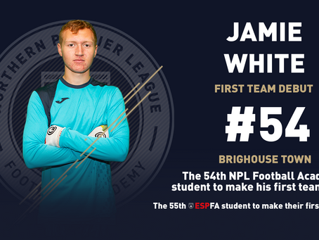 JAMIE WHITE MAKES HIS FIRST TEAM DEBUT