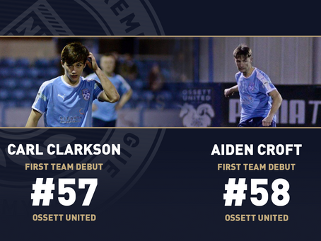 CARL CLARKSON AND AIDEN CROFT MAKE THEIR FIRST TEAM DEBUT