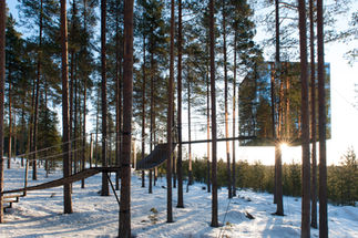 The mirrorcube / Tree Hotel, Harads, Sweden