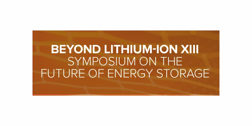Beyond Li-ion XIII Virtual Conference