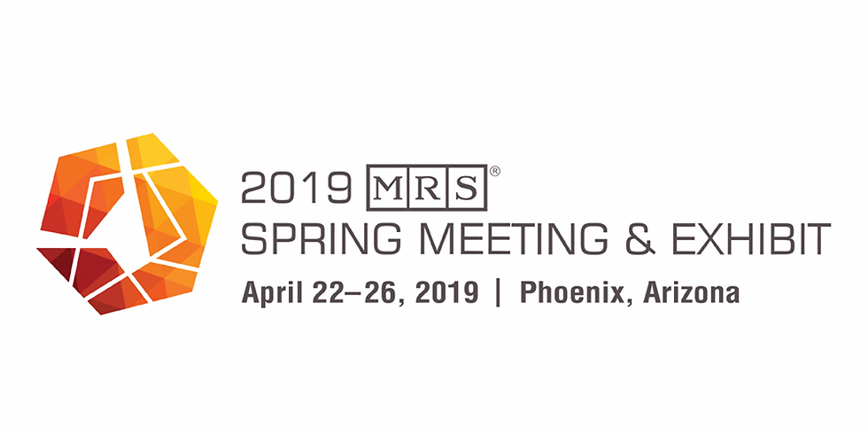 Materials Research Society Spring 2019 Meeting