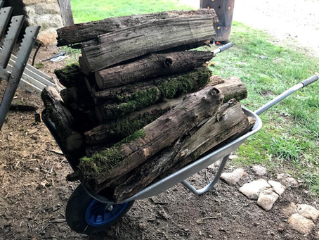 Making Firewood from Old Fence Posts