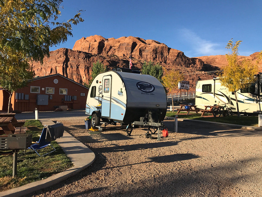 Site 5, Moab Valley RV Resort, Arches National Park