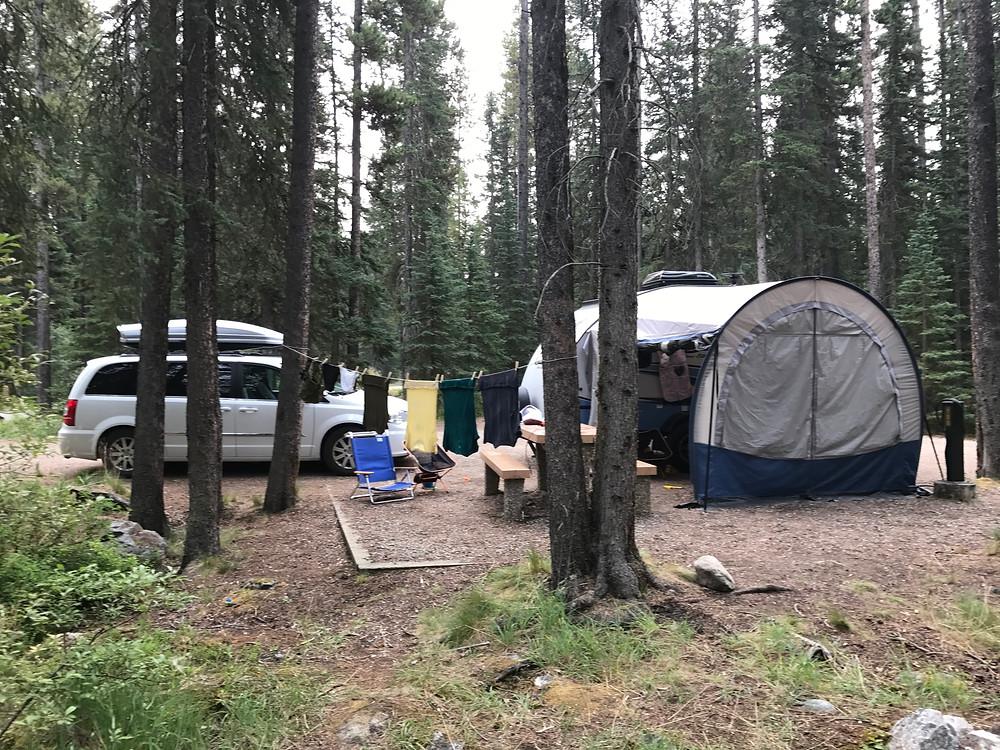 Lake Louise Hard-sided Campground in Lake Louise, Banff National Park