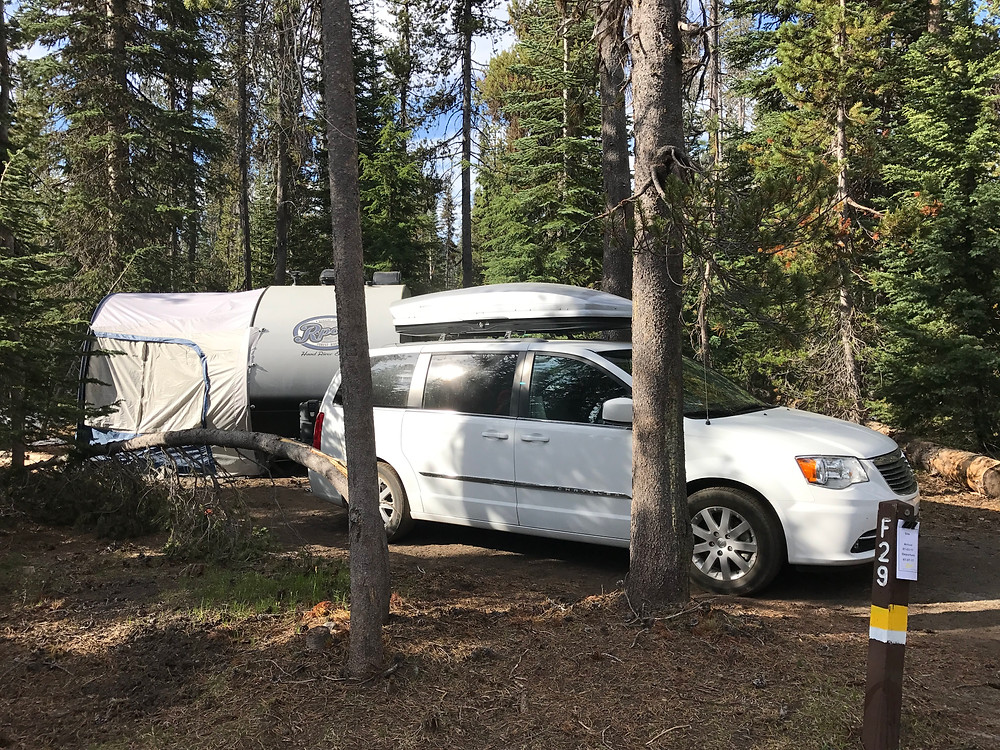 Site F29 at Mazama Campground, Crater Lake National Park