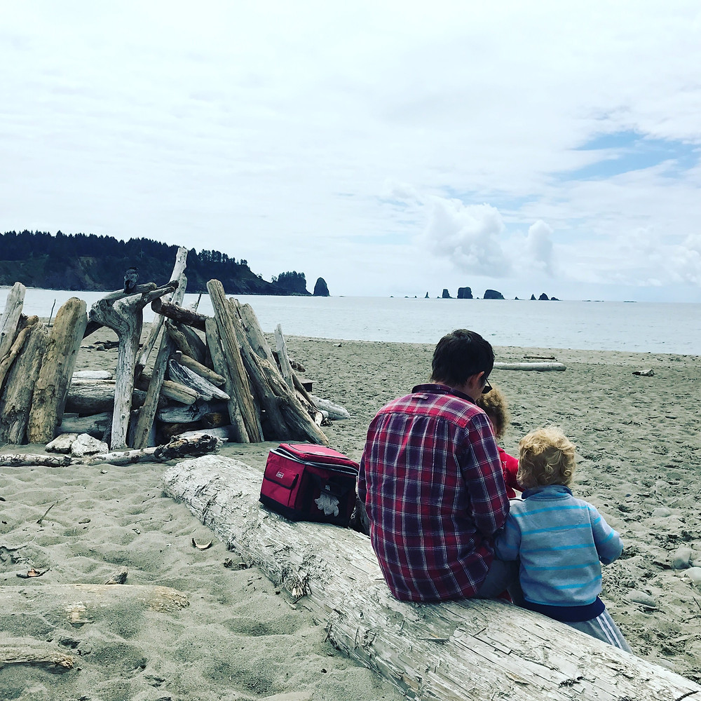 Lunch at La Push Beach in Olympic National Park