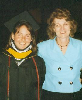 Mom and me at my graduation from Towson