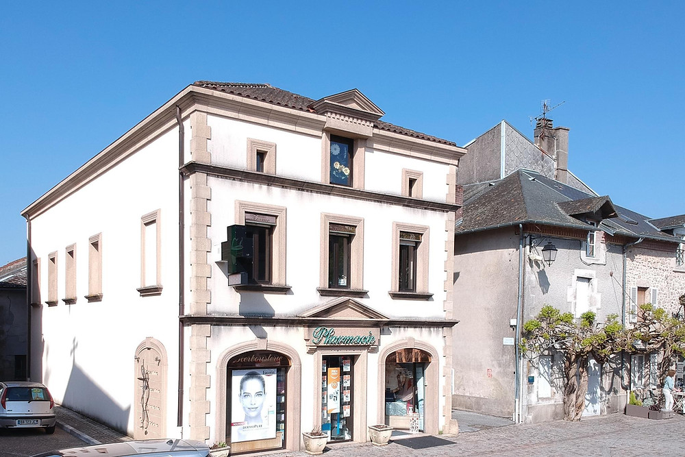 Pharmacy in Bessines-sur-Gartempe, Haute-Vienne, France