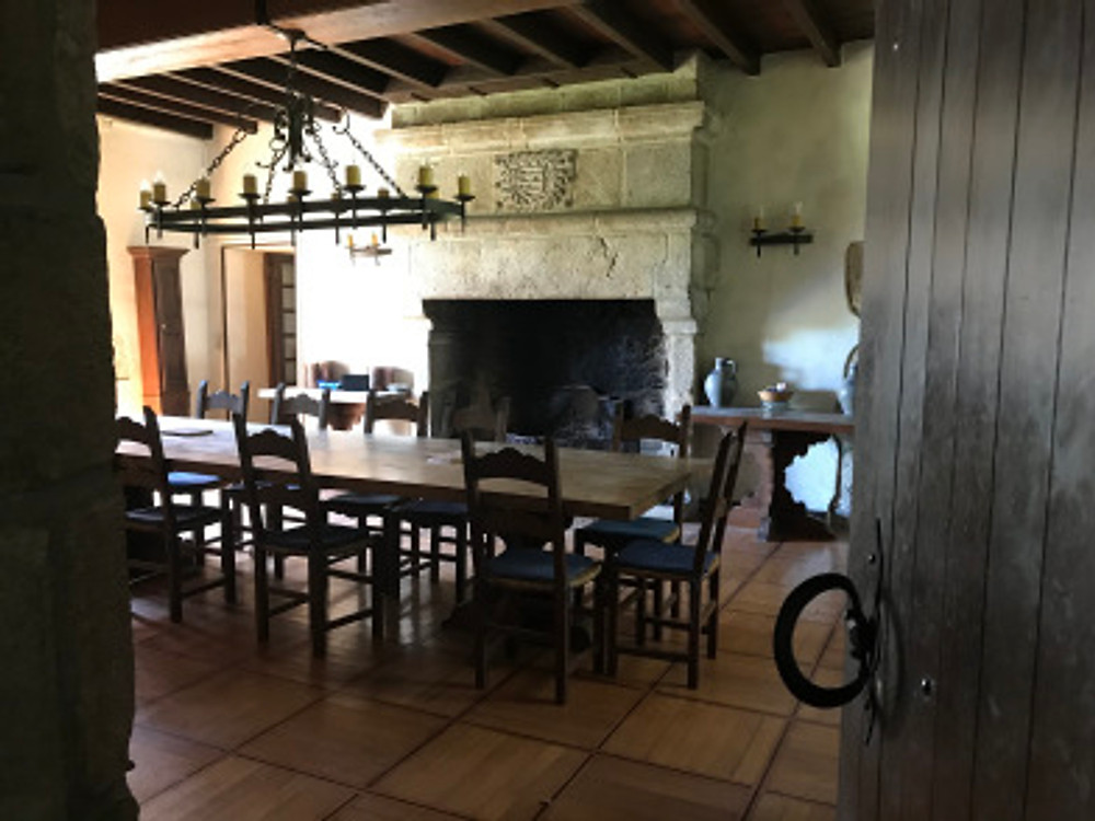 This is an old French farmhouse