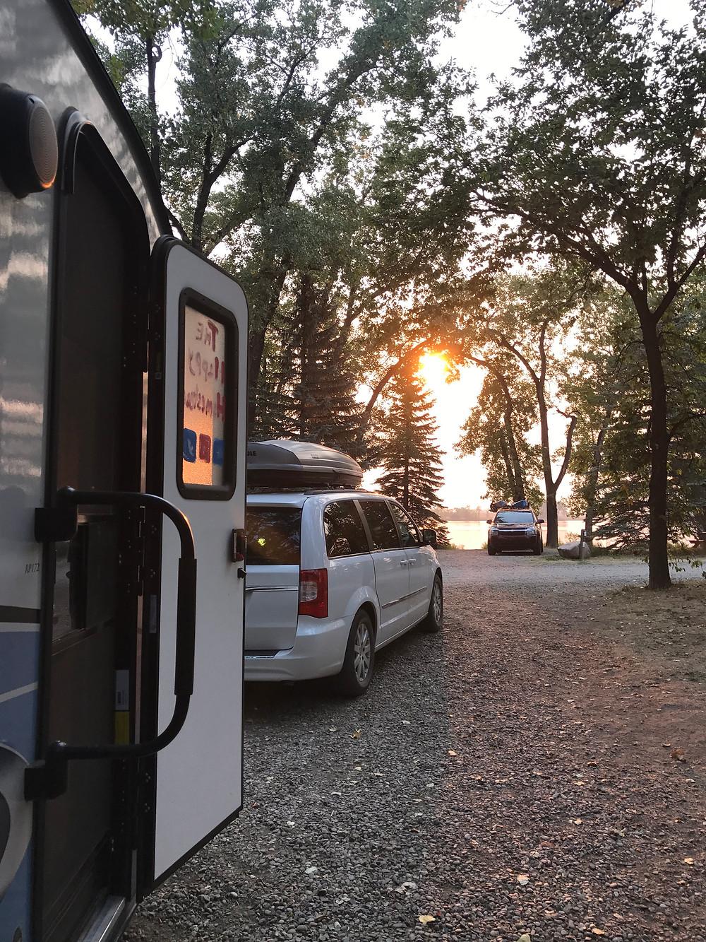 Our campsite at Park Lake Provincial Park
