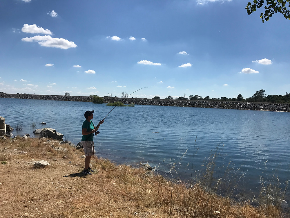 Fishing at Folsom Lake State Recreation Area in CA