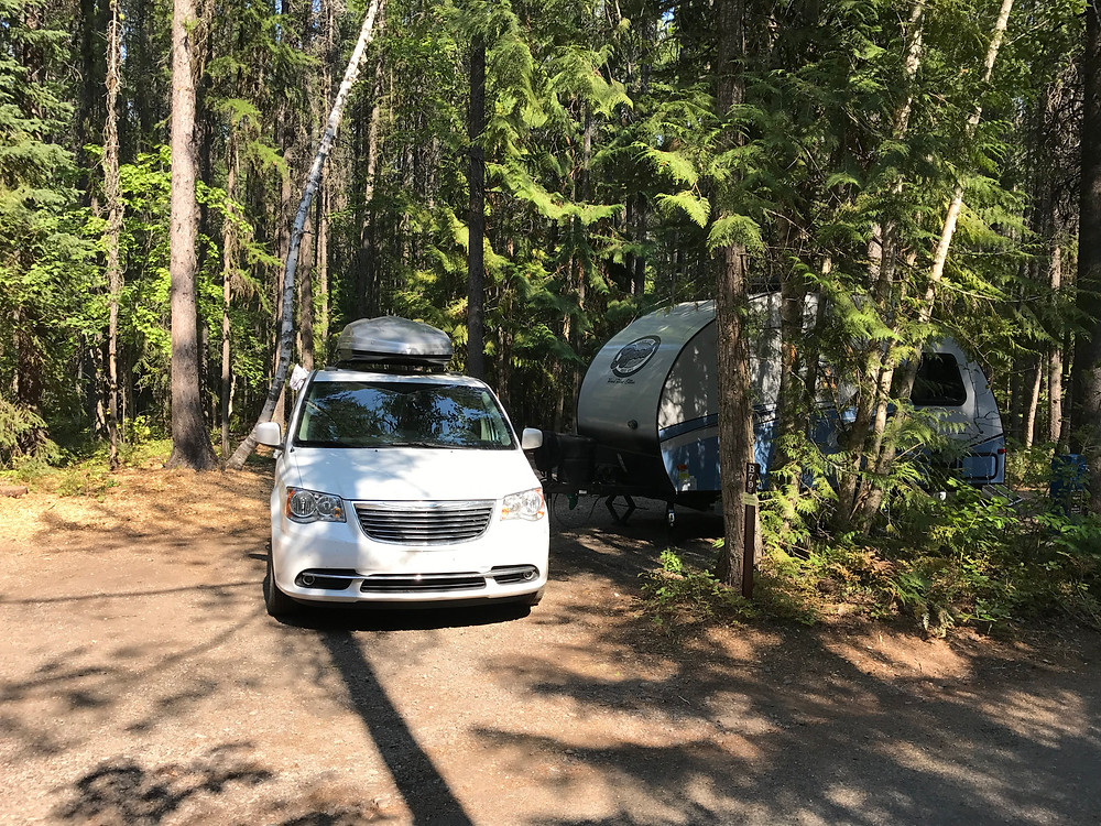 Site 79 at Fish Creek Campground, Glacier National Park