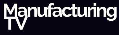 Manufacturing TV Logo Rectangle white on
